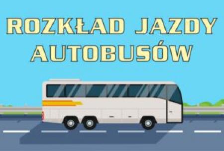 Rozkład jazdy autobusów i busa szkolnego od 18.01.2021