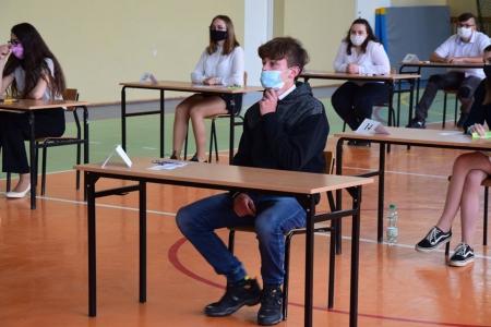 Nasi uczniowie na egzaminie